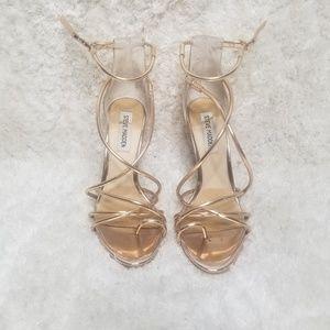 Steve Madden Rose Gold Strappy Heels
